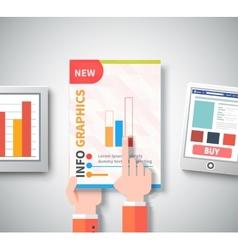 Infographic business brochures banners set vector