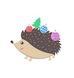 little happy hedgehog icon vector image vector image