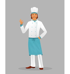 Male chef in uniform vector image