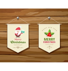 Merry Christmas flag concepts design collections vector image