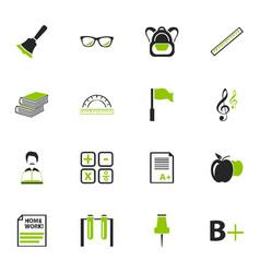 School icons set vector