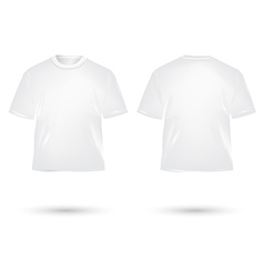 t shirt white vector image