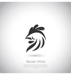 Abstract rooster logo template vector