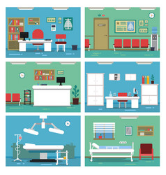 empty medical offices different vector image