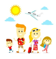 Family Trip vector image