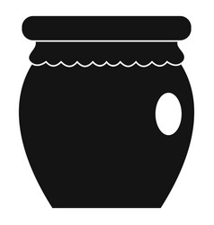honey bank icon simple style vector image