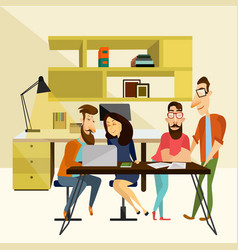 office team concept vector image
