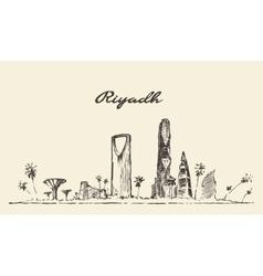 Riyadh skyline drawn sketch vector image