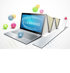 The concept of e-learning Education online vector image