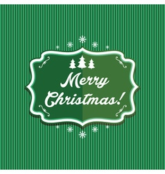 winter label with text Merry Christmas vector image