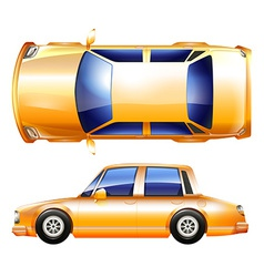 A yellow vehicle vector image vector image
