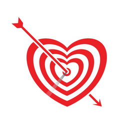 arrow impale on goal heart vector image