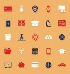 Businessman item classic color icons with shadow vector image vector image