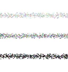 Dot pattern page divider line design set - design vector