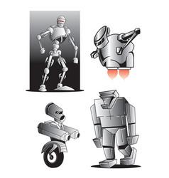 robot figures vector image vector image