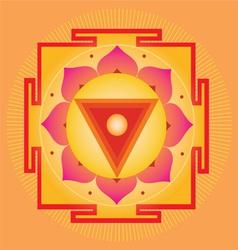 Sacred Geometry orange yantra vector image vector image