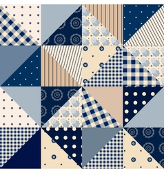 Seamless patchwork of triangles vector image vector image