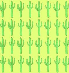Sketch desert cactus in vintage style vector image vector image