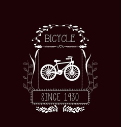 Bicycle Vintage frames and Floral Ornaments vector image vector image