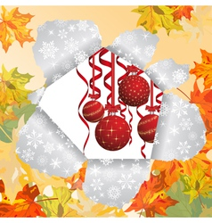 christmas autumn vector image vector image