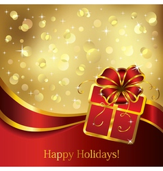 gift greeting card vector image