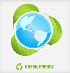 recycle symbol green energy vector image vector image