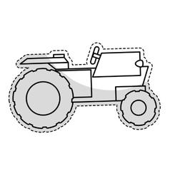 Tractor vehicle icon vector