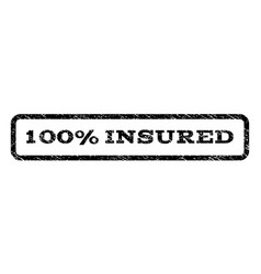100 percent insured watermark stamp vector