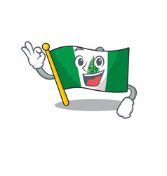 A picture flag norfolk island making an okay vector