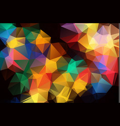 abstract colorful polygonal which consist of vector image