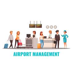 Airport cartoon vector