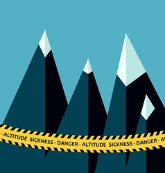 Altitude sickness mountains vector