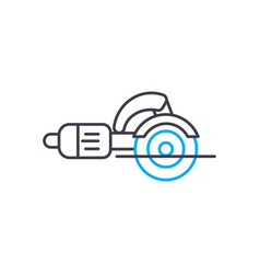 angle grinder thin line stroke icon angle vector image
