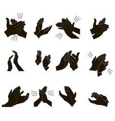 Applause set clapping hands design vector