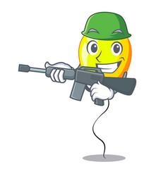Army yellow balloon cartoon in shape vector