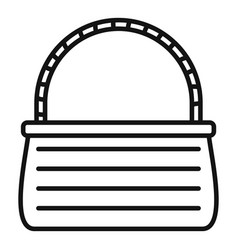 Basketry icon outline style vector