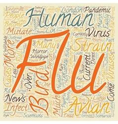 Bird Flu Explained text background wordcloud vector