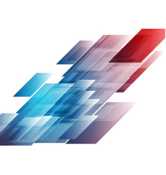 blue and red shiny hi-tech background vector image