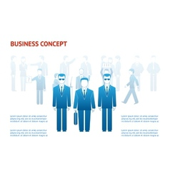 Business peoples concept vector
