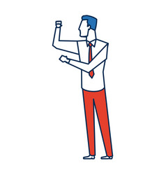 businessman successful gesturing pointing vector image