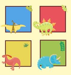 Cartoon dinosaurs isolated vector