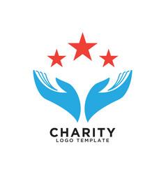 Charity logo design template vector