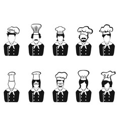 Chefs head icon vector