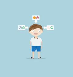 children life style concept cartoon vector image