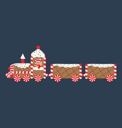 christmas gingerbread train vector image