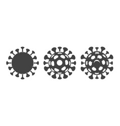 covid19 pictograph on white vector image