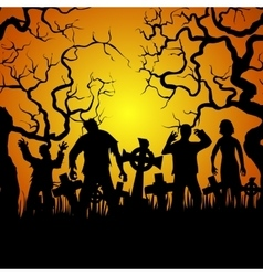 crouds zombies vector image