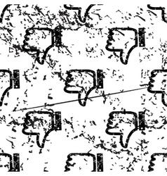Dislike pattern grunge monochrome vector