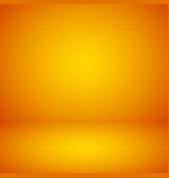 Empty orange studio abstract background vector