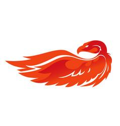 Flame phoenix emblem vector